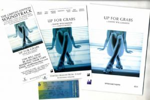 UP FOR GRABS - 2002 UK PROGRAM, FLYER & TICKET SET